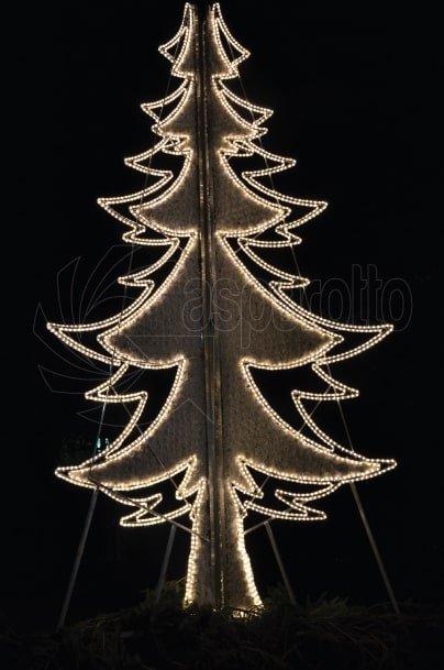 Luminarie natalizie Albero piatto 4mt