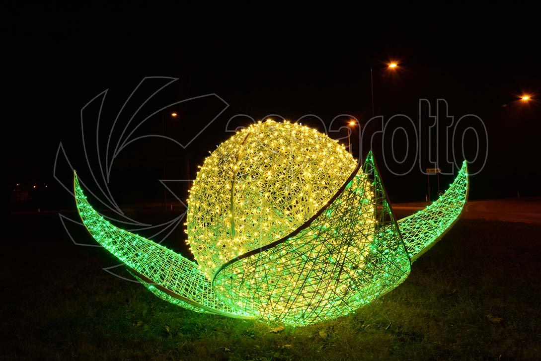 Fiore luminoso installazione