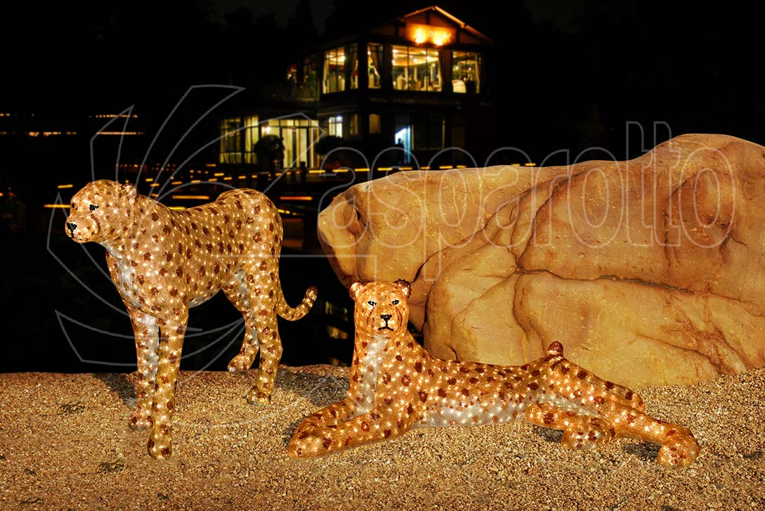 Leopardi luminosi a led