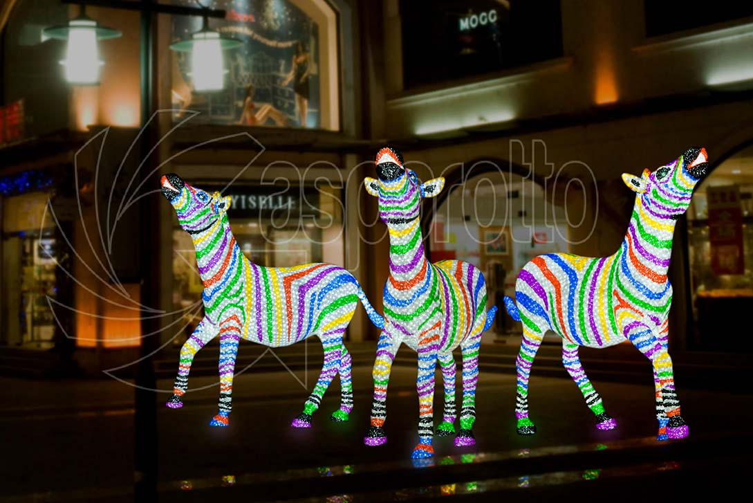 Zebra luminosa a led colorata