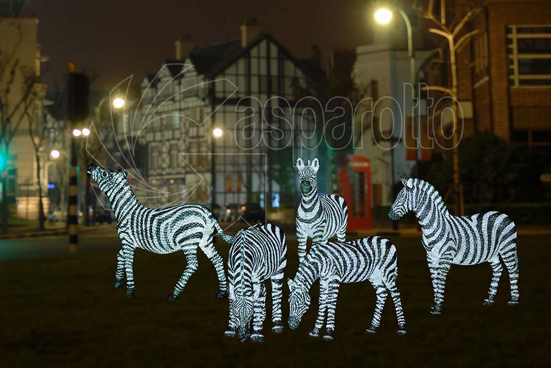 Zebra luminosa a led