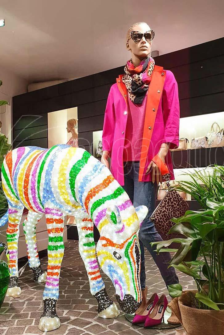 Zebra luminosa artistica